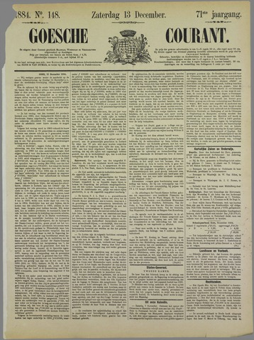 Goessche Courant 1884-12-13