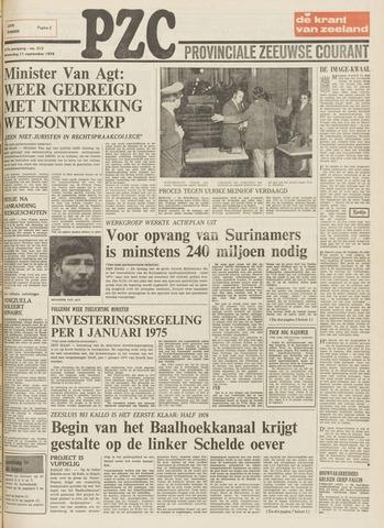 Provinciale Zeeuwse Courant 1974-09-11