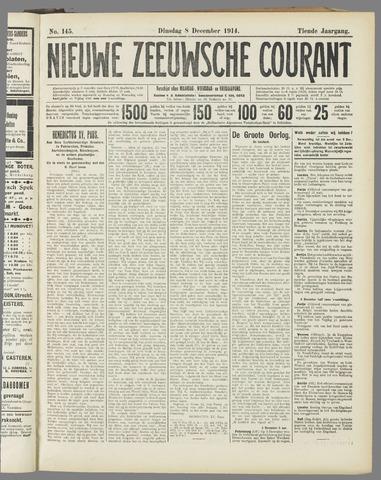 Nieuwe Zeeuwsche Courant 1914-12-08