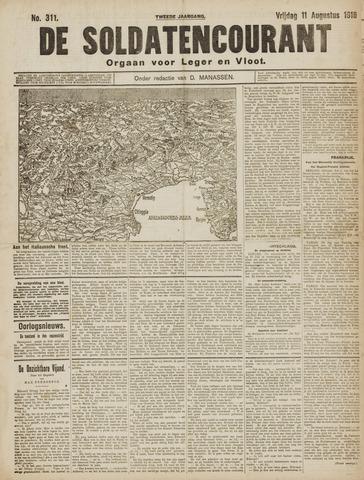 De Soldatencourant. Orgaan voor Leger en Vloot 1916-08-11