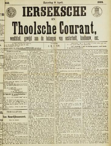 Ierseksche en Thoolsche Courant 1892-04-09