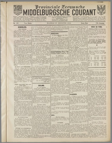 Middelburgsche Courant 1932-08-22