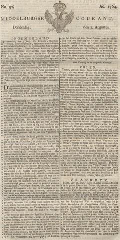Middelburgsche Courant 1764-08-02