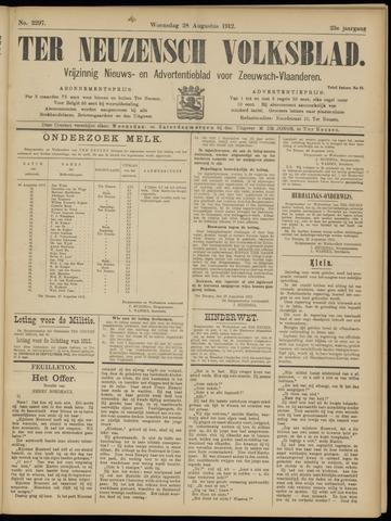 Ter Neuzensch Volksblad. Vrijzinnig nieuws- en advertentieblad voor Zeeuwsch- Vlaanderen / Zeeuwsch Nieuwsblad. Nieuws- en advertentieblad voor Zeeland 1912-08-28