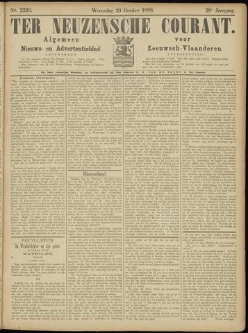 Ter Neuzensche Courant. Algemeen Nieuws- en Advertentieblad voor Zeeuwsch-Vlaanderen / Neuzensche Courant ... (idem) / (Algemeen) nieuws en advertentieblad voor Zeeuwsch-Vlaanderen 1886-10-20