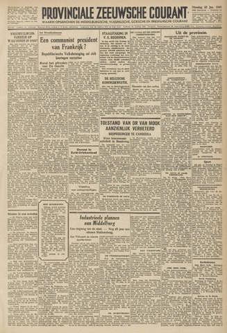 Provinciale Zeeuwse Courant 1946-01-22