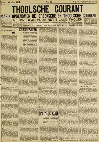 Ierseksche en Thoolsche Courant 1937-10-01