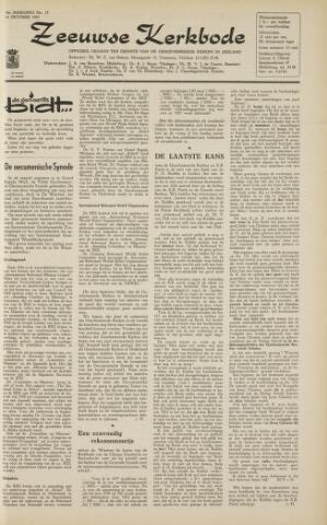 Zeeuwsche kerkbode, weekblad gewijd aan de belangen der gereformeerde kerken/ Zeeuwsch kerkblad 1963-10-18