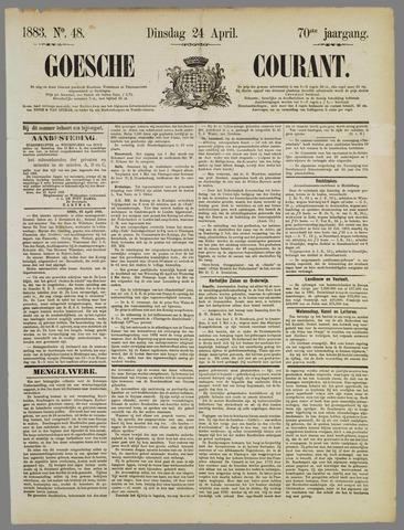 Goessche Courant 1883-04-24