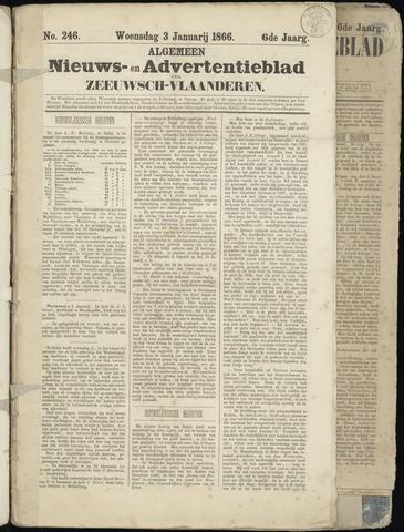 Ter Neuzensche Courant. Algemeen Nieuws- en Advertentieblad voor Zeeuwsch-Vlaanderen / Neuzensche Courant ... (idem) / (Algemeen) nieuws en advertentieblad voor Zeeuwsch-Vlaanderen 1866-01-03