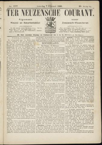 Ter Neuzensche Courant. Algemeen Nieuws- en Advertentieblad voor Zeeuwsch-Vlaanderen / Neuzensche Courant ... (idem) / (Algemeen) nieuws en advertentieblad voor Zeeuwsch-Vlaanderen 1880-02-07