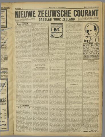 Nieuwe Zeeuwsche Courant 1921-01-10
