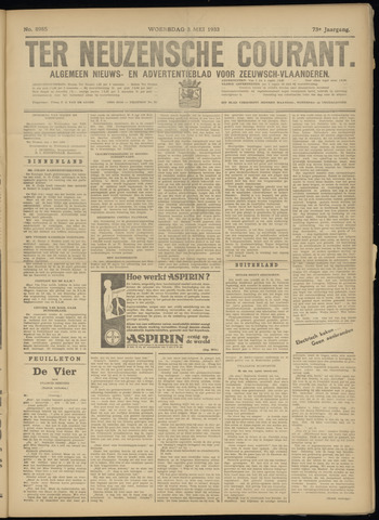 Ter Neuzensche Courant. Algemeen Nieuws- en Advertentieblad voor Zeeuwsch-Vlaanderen / Neuzensche Courant ... (idem) / (Algemeen) nieuws en advertentieblad voor Zeeuwsch-Vlaanderen 1933-05-03