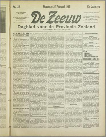 De Zeeuw. Christelijk-historisch nieuwsblad voor Zeeland 1929-02-27