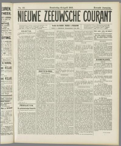Nieuwe Zeeuwsche Courant 1911-04-13