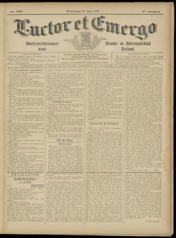 Luctor et Emergo. Antirevolutionair nieuws- en advertentieblad voor Zeeland / Zeeuwsch-Vlaanderen. Orgaan ter verspreiding van de christelijke beginselen in Zeeuwsch-Vlaanderen 1917-06-13