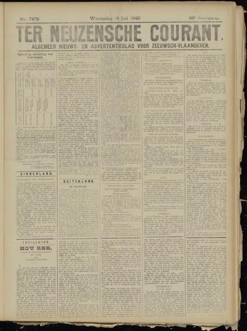 Ter Neuzensche Courant. Algemeen Nieuws- en Advertentieblad voor Zeeuwsch-Vlaanderen / Neuzensche Courant ... (idem) / (Algemeen) nieuws en advertentieblad voor Zeeuwsch-Vlaanderen 1923-07-18