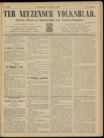 Ter Neuzensch Volksblad. Vrijzinnig nieuws- en advertentieblad voor Zeeuwsch- Vlaanderen / Zeeuwsch Nieuwsblad. Nieuws- en advertentieblad voor Zeeland 1912-11-20