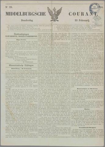 Middelburgsche Courant 1854-02-23