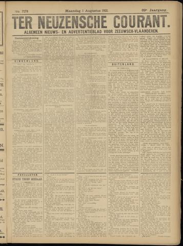 Ter Neuzensche Courant. Algemeen Nieuws- en Advertentieblad voor Zeeuwsch-Vlaanderen / Neuzensche Courant ... (idem) / (Algemeen) nieuws en advertentieblad voor Zeeuwsch-Vlaanderen 1921-08-01