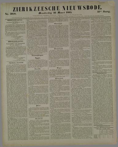 Zierikzeesche Nieuwsbode 1885-03-26