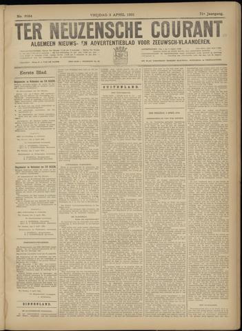 Ter Neuzensche Courant. Algemeen Nieuws- en Advertentieblad voor Zeeuwsch-Vlaanderen / Neuzensche Courant ... (idem) / (Algemeen) nieuws en advertentieblad voor Zeeuwsch-Vlaanderen 1931-04-03
