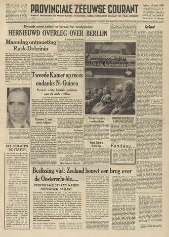 Provinciale Zeeuwse Courant 1962-04-13