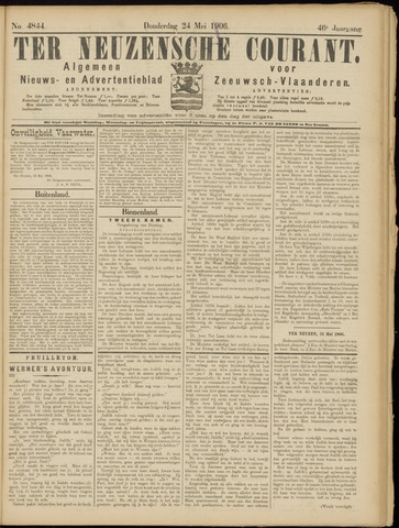 Ter Neuzensche Courant. Algemeen Nieuws- en Advertentieblad voor Zeeuwsch-Vlaanderen / Neuzensche Courant ... (idem) / (Algemeen) nieuws en advertentieblad voor Zeeuwsch-Vlaanderen 1906-05-24