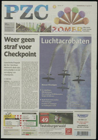 Provinciale Zeeuwse Courant 2014-07-17