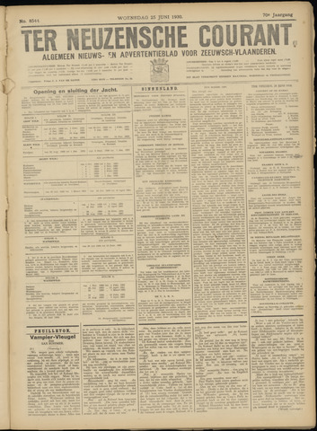 Ter Neuzensche Courant. Algemeen Nieuws- en Advertentieblad voor Zeeuwsch-Vlaanderen / Neuzensche Courant ... (idem) / (Algemeen) nieuws en advertentieblad voor Zeeuwsch-Vlaanderen 1930-06-25