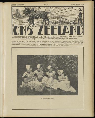 Ons Zeeland / Zeeuwsche editie 1929-10-26