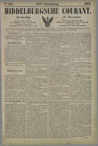 Middelburgsche Courant 1884-11-27