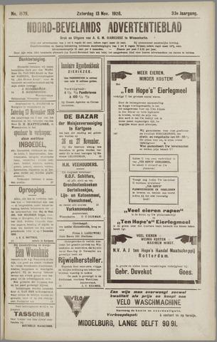 Noord-Bevelands Nieuws- en advertentieblad 1926-11-13