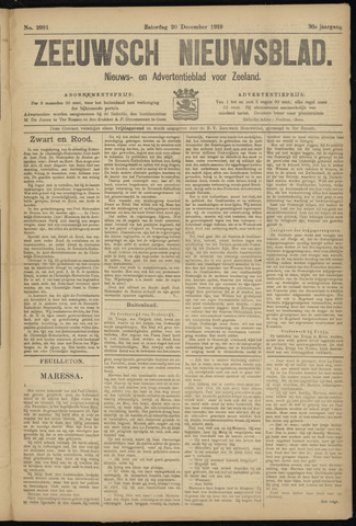 Ter Neuzensch Volksblad. Vrijzinnig nieuws- en advertentieblad voor Zeeuwsch- Vlaanderen / Zeeuwsch Nieuwsblad. Nieuws- en advertentieblad voor Zeeland 1919-12-20