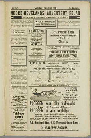Noord-Bevelands Nieuws- en advertentieblad 1929-09-07