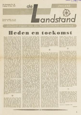 De landstand in Zeeland, geïllustreerd weekblad. 1943-09-10