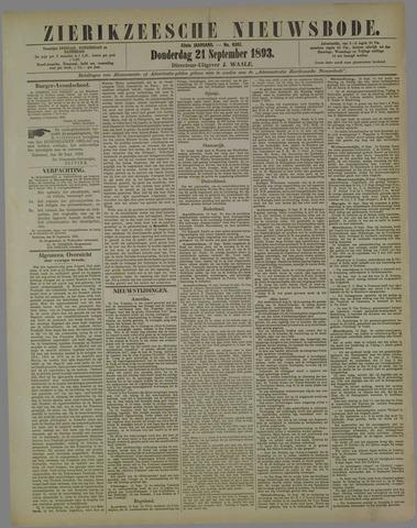 Zierikzeesche Nieuwsbode 1893-09-21