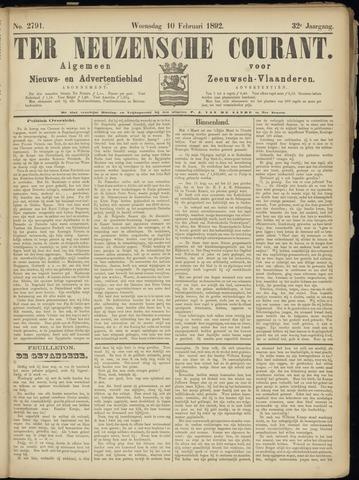 Ter Neuzensche Courant. Algemeen Nieuws- en Advertentieblad voor Zeeuwsch-Vlaanderen / Neuzensche Courant ... (idem) / (Algemeen) nieuws en advertentieblad voor Zeeuwsch-Vlaanderen 1892-02-10