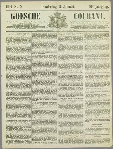 Goessche Courant 1894-01-11