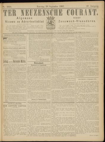 Ter Neuzensche Courant. Algemeen Nieuws- en Advertentieblad voor Zeeuwsch-Vlaanderen / Neuzensche Courant ... (idem) / (Algemeen) nieuws en advertentieblad voor Zeeuwsch-Vlaanderen 1907-09-28