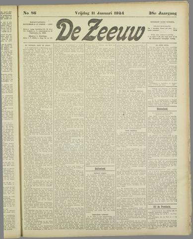 De Zeeuw. Christelijk-historisch nieuwsblad voor Zeeland 1924-01-11