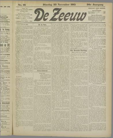De Zeeuw. Christelijk-historisch nieuwsblad voor Zeeland 1915-11-23