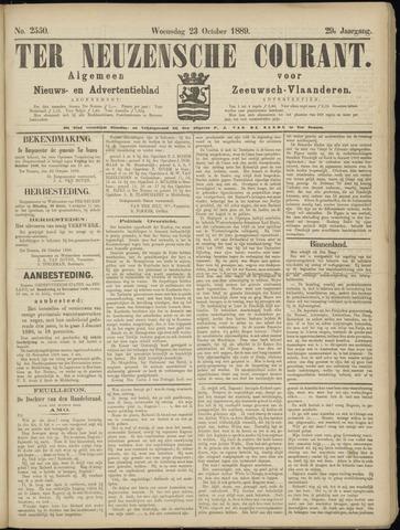 Ter Neuzensche Courant. Algemeen Nieuws- en Advertentieblad voor Zeeuwsch-Vlaanderen / Neuzensche Courant ... (idem) / (Algemeen) nieuws en advertentieblad voor Zeeuwsch-Vlaanderen 1889-10-23
