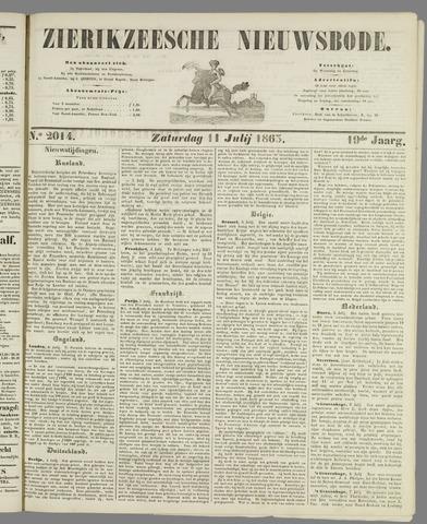 Zierikzeesche Nieuwsbode 1863-07-11