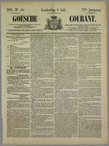 Goessche Courant 1885-07-09