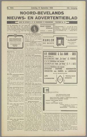 Noord-Bevelands Nieuws- en advertentieblad 1936-09-12