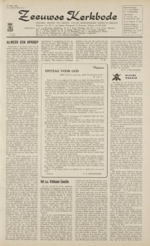 Zeeuwsche kerkbode, weekblad gewijd aan de belangen der gereformeerde kerken/ Zeeuwsch kerkblad 1962-07-27