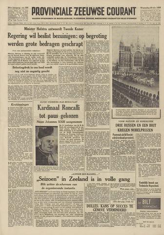 Provinciale Zeeuwse Courant 1958-10-29