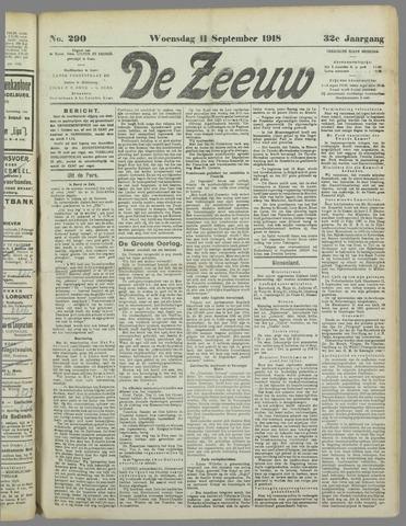 De Zeeuw. Christelijk-historisch nieuwsblad voor Zeeland 1918-09-11
