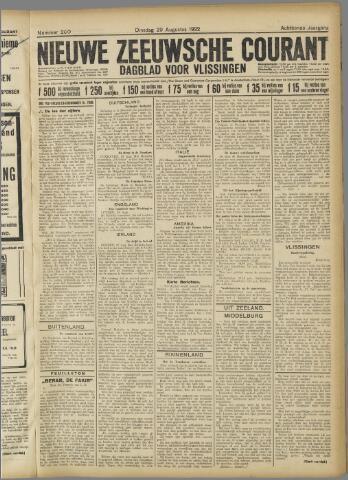 Nieuwe Zeeuwsche Courant 1922-08-29